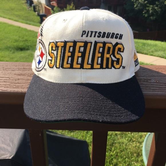 Vintage Pittsburgh Steelers Snapback Hat - 1 Size.  M 5b395080aa571980e178596d 1355caad31e5